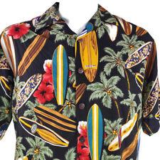 Hilo Hattie Surfboards Hibiscus Medium Rayon Hawaiian Aloha Shirt