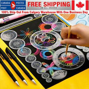 27pcs Spirograph Design Set Tin Draw Drawing Art Craft Create Education Toy Gift
