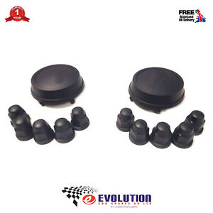 SET OF 2 FORD TRANSIT MK6 / MK7 WHEEL CENTRE CAP + WHEEL NUT COVERS 2000 to 2013