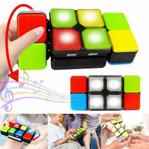 LED Magic Music Cube Flip Slide Cube  Light Multiplayer Puzzle Toy 4 Game Modes