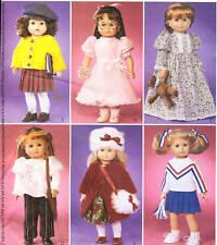 PATTERN for 18in Doll Clothes McCalls 3900 nightie cheerleader hat 70s hippie