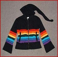 NEU* XL* Zipfelkapuze PATCH JACKE Hippie ELFE Gnom PSY GOA Rainbow Patchwork *XL