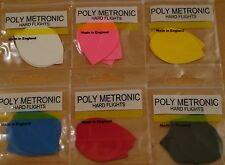 "5 Sets ""Assorted"" Poly Metronic Pear Shaped Hard Dart Flights"