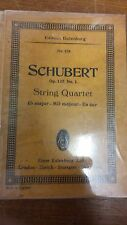 Schubert: String Quartet: Opus 125 Number 1: Music Score