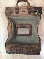Vintage Boyle Railroad Money Bag New York New Haven & Hartford RR Train