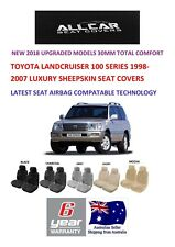 Sheepskin Car Seatcovers to fit Toyota Landcruiser 100 series Airbag safe 30mm