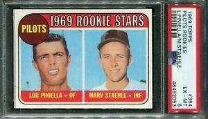 1969 Topps #394 Lou Piniella Rookie Stars PSA 6 EX-MT
