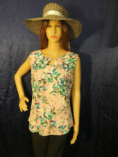 AVA&Grace Top Womens Sleeveless Blouse Floral Size Large