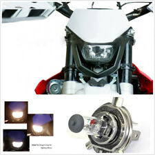 White Black Street Fighter Motorcycles Front Ghost Face H4 Halogen Headlight 35W