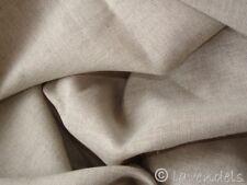 0,5 m Stoff Leinen / Baumwolle ♥ Ökotex ♥ natur beige ♥ uni