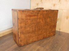 Großer alter Reise-Koffer aus Holz, restauriert, gewachst, innen gereinigt, Rar