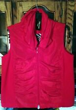 ON SALE! Plus Size 2X Red Ruched Vest Fleece on sides & back NWT $89 For CYNTHIA