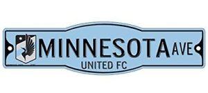 """Minnesota United FC 4"""" x 17"""" Street Sign MLS"""