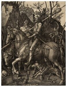 Albrecht Durer Knight Death and the Devil paper or canvas reproduction