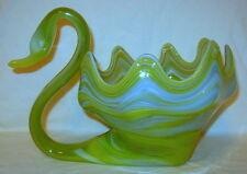 Vintage Hand Blown Murano Art Glass Swan Bowl