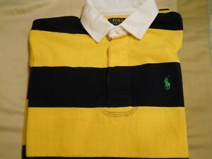 Polo Ralph Lauren Long Sleeve Rugby Shirt M Gold/Black NWT Free S
