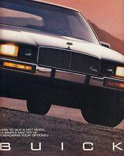 BUICK Skyhawk Skylark Lesabre Riviera Electra prospectus brochure 1987 USA D