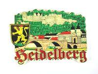 Heidelberg Ansicht  Germany Souvenir Magnet Rubber Kautschuk,flexibel,Neu