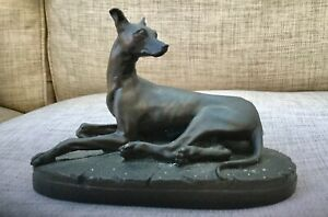 Cold cast Bronze Greyhound dog.