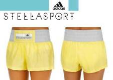 New ADIDAS WOMEN'S  STELLASPORT SHORTS/sport/gym/running/beach/holidays/yellow
