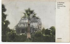 1908 Postcard of Large Mansion at Redwood City San Mateo County CA