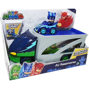 PJ Masks Transporter Vehicle with Cat-Car transports 4 Mini Vehicles Ages 3+
