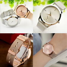 Men Women Slim Leather Analog Classic Casual Quartz Fashion Wrist Watch Bracelet