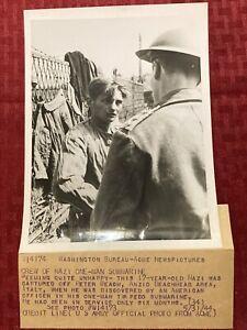 "1944 WWII Acme News Photo ""Crew Of Nazi One-Man Submarine""  5/31/1944"