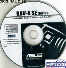 ASUS GENUINE VINTAGE ORIGINAL DISK FOR K8V-X SE  Motherboard Drivers Disk M616