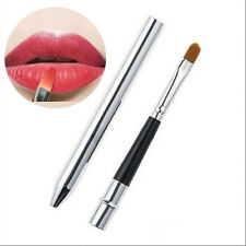 New Pro Makeup Lip Brush Portable Retractable Cosmetic Tool Lipstick Gloss LU