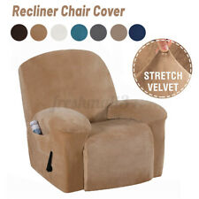 Recliner Cover Non Slip Stretch Velvet Couch Armchair Chair Covers Waterproof