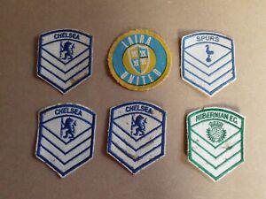 VINTAGE SPURS CHELSEA HIBERNIAN LAIRA FC FOOTBALL CLUB CLOTH BADGE PATCHES