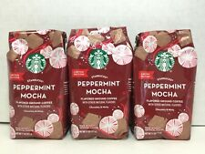 Starbucks Holiday Peppermint Mocha Flavored Ground Coffee 11 Oz., 3 Bags, 2020