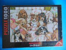 Anatolian Puzzle 1000 Piece - Puppies - Yavru Kopekler Debbie Cook Sealed!
