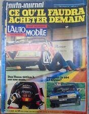 L'automobile N° 353 1975 Don Vesco 604 Yamaha Opel GT2 150 Honda Tulio Crespi