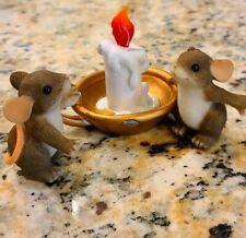 "Charming Tails #87/116 ""Candle Light Kisses"" Mouse Couple Figure"