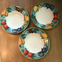 "Lot 3: Victoria & Beale Casual *FORBIDDEN FRUIT* Soup / PASTA Bowls 8.5"" MINTY !"