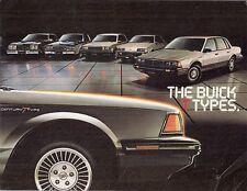 Buick T Type 1983 USA Market Brochure Skyhawk Skylark Century Regal Riviera
