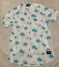 WeSC Men's Oden Palms Short Sleeve Shirt Sz Medium Mens New! $128