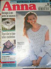 Anna Burda Ouvrages Manuels N°6 1995 Broderie ajourée Tricot d'art Patchwork