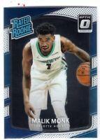 2017-18 Donruss Optic Malik Monk Rated Rookie Card RC #190 Charlotte Hornets -C