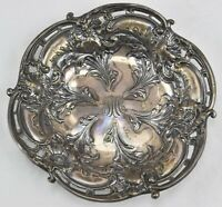 "Antique C.D Peacock Sterling  Dish Tray Art Nouveau Design 5.5"" N330 Monogrammed"