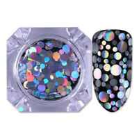 Mermaid Fish Scale Nail Sequins Round Glitters Manicure Nail Art Tips Decoration