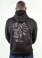 "Black Mens Hoodie ""Gear Head"" Graphic Cotton Sweatshirt (S to 2XL) Gift for Dad"