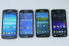 Lot of 4 Working Samsung Galaxy Android Smartphones - S4 Active / Prevail / S2