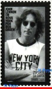 21-01 BRAZIL 2021 JOHN LENNON IN NEW YORK by BOB GRUEN, MUSIC, ROCK, BEATLES MNH