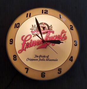 1998 Leinenkugel Wall Clock Double Bubble Original Chippewa Falls Wisconsin