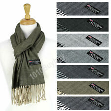 Super Soft Luxurious herringbone 100% Cashmere Made Scotland Winter Scarf