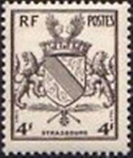 "FRANCE TIMBRE STAMP N° 735 "" LIBERATION DE STRASBOURG , ARMOIRIES "" NEUF X TB"
