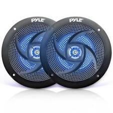 """Pair of Pyle PLMRS63BL 6.5"""" 240W Low-Profile Marine Speakers with LED Lights"""
